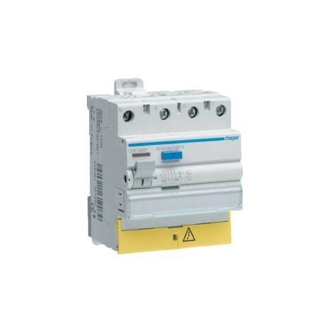 Interrupteur différentiel 40A tétrapolaire type AC - CFC840F - Hager