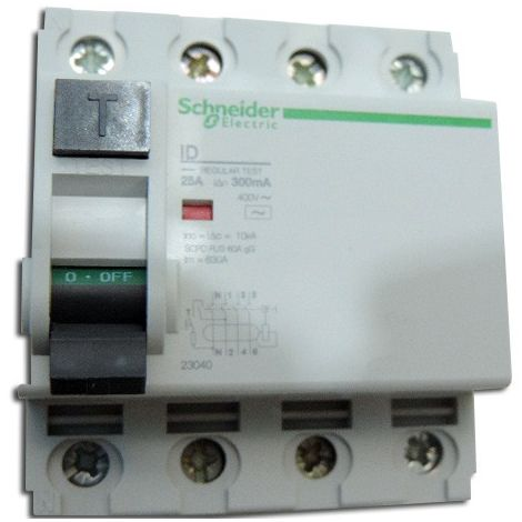 Interrupteur differentiel 4P 25A 300MA type AC ID CLIC (équivalent 23194 MULTI9) SCHNEIDER ELECTRIC 23040