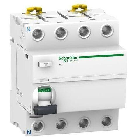 Interrupteur differentiel 4P 80A 300 MA selectif type ASI SCHNEIDER A9R35480 NEUF