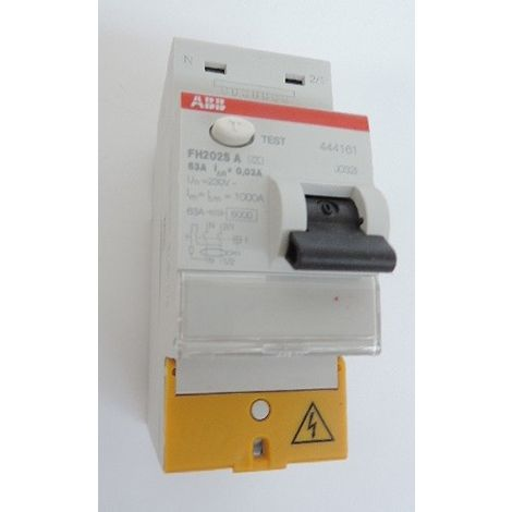 """main image of """"Abb 444161 Interrupteur Différentiel 63A - type A - FH202S"""""""