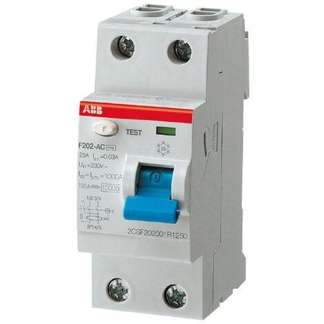 Interrupteur différentiel 63A ABB F202 A-63A/30mA