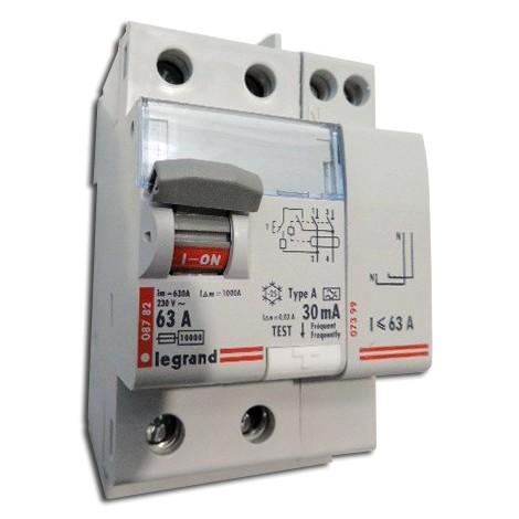 Interrupteur differentiel 63a Legrand type ac 2p standard - LEGRAND