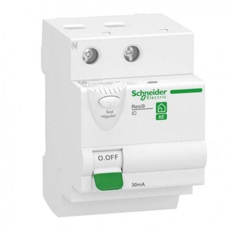 Interrupteur différentiel 63A XE Resi9 - 6 pas - Type AC - Bipolaire - 30mA - 230V CA - Embrochable