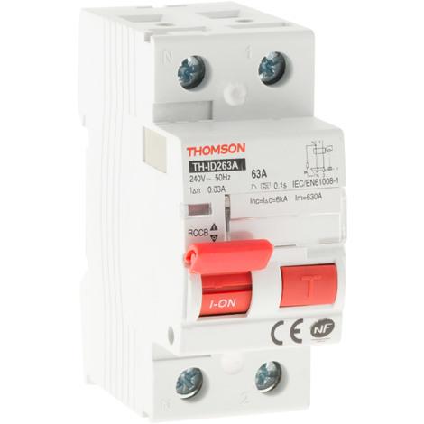 Interrupteur différentiel à vis Thomson 63A type A ou AC