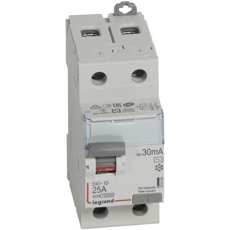 Interrupteur différentiel bipolaire DX³-ID protection tête de groupe - arrivée haut/départ bas Legrand