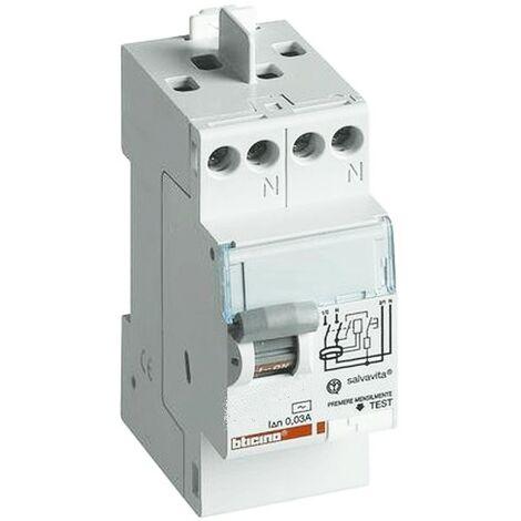 Interrupteur différentiel bticino 40A 2P 30MA 'F' 2 Modules GC723F40