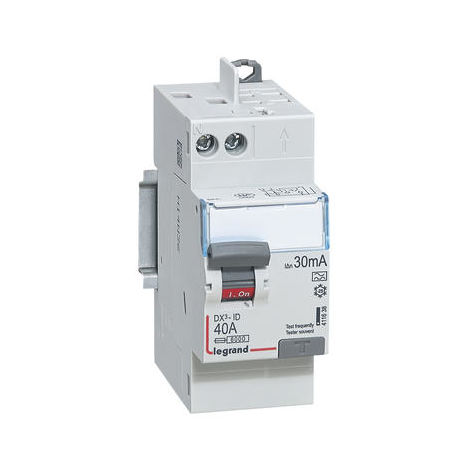 Interrupteur différentiel DX³-ID arrivée haut à vis et départ haut automatique - 2P 230V~ 40A typeA 30mA - 2 modules - L...