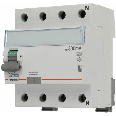 Interrupteur différentiel Legrand 4 mod. 4 pôles 63 A/300 mA, 400 V