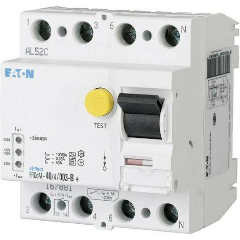 Interrupteur différentiel numérique sensible tous courants, 40 A, 4 pôles, 30mA W090881