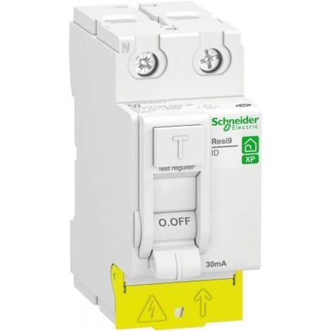 Interrupteur différentiel Resi9 xp 2P 63A 30ma type AC - Schneider R9PRC263