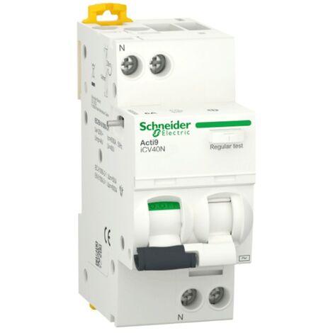 Interrupteur différentiel Schneider Acti9 1P+N 10A 30MA AC 6 KA A9DE3610