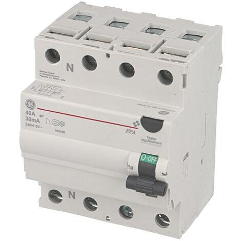 Interrupteur Différentiel triphasé 40A / 30mA / type A