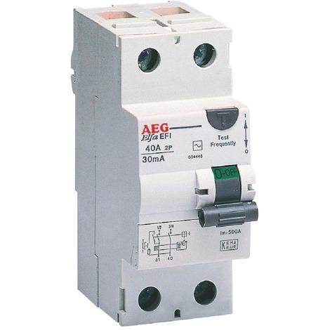 Interrupteur différentiel type A AEG