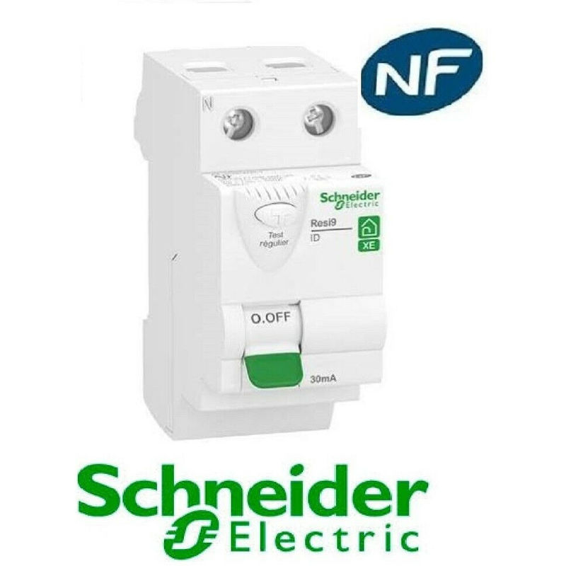 inter différentiel Schneider Electric 2P 40A 30mA Type A peignable alimentation