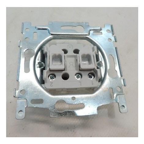 Interrupteur double allumage 10AX 250V AC sans plaque ni enjoliveur NIKO 170-01501