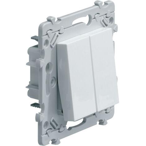 Interrupteur Double - Blanc - Hager Essensya