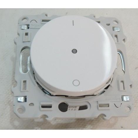 Interrupteur electronique 10A blanc temoin 2 fils 230V pour circuit éclairage 50-420VA PlusLink 2W Odace + SCHNEIDER S520566