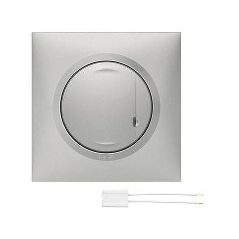 Interrupteur filaire connecté avec option variateur - Dooxie with Netatmo - Sans neutre 5W à 300W - Alu