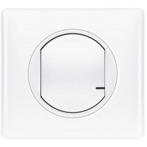 Interrupteur filaire connecté avec variateur Mosaic with Netatmo sans neutre 5W à 300W + compensateur blanc