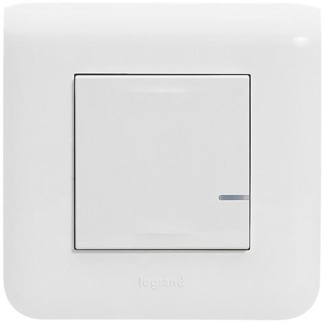 """main image of """"Interrupteur filaire connecté option variateur sans neutre 5-300w + compensateur Blanc - Mosaic NetAtmo / Legrand"""""""
