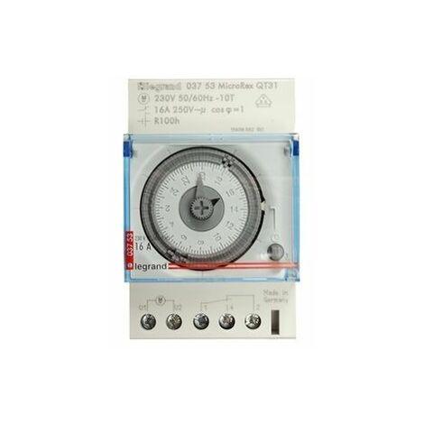 Interrupteur horaire analogique Legrand MicroRex QT31 230V 50-60Hz
