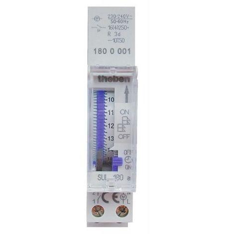Interrupteur horaire mécanique avec réserve de marche contact à fermeture