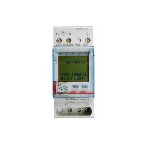 Interrupteur horaire numérique Legrand AlphaARex DY21 230V AC