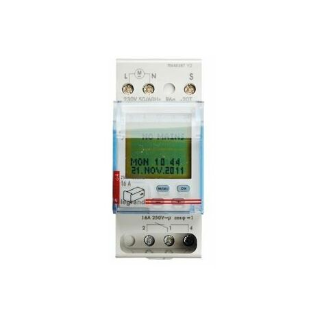 Interrupteur horaire numérique Legrand AstroRex D21 Alpha 230V 50/60Hz