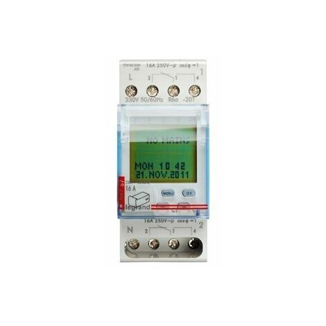 Interrupteur horaire numérique Legrand AstroRex D22 Alpha 230V 50/60Hz