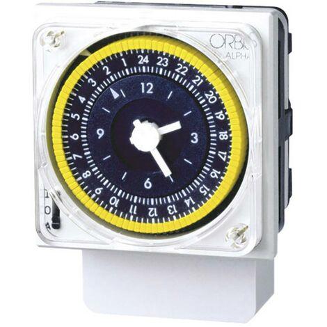 Interrupteur horaire pour rail ORBIS Zeitschalttechnik ALPHA D OB270023 230 V/AC 1 inverseur (RT) 16 A 250 V/AC 1 pc(s)
