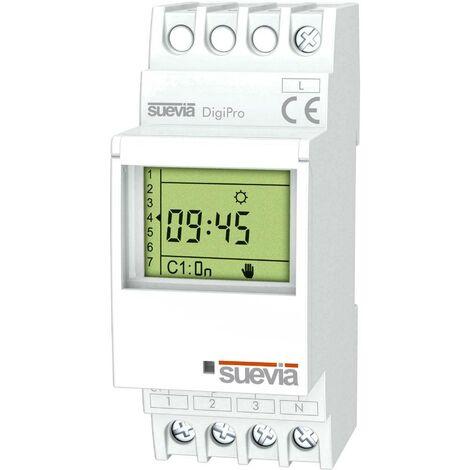 Interrupteur horaire pour rail Suevia SU172012 1 inverseur (RT) 16 A 250 V/AC 1 pc(s)