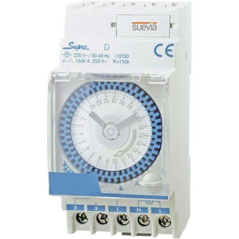 Interrupteur horaire pour rail Suevia Supra D SU290132N Tension de fonctionnement: 230 V/AC 1 inverseur (RT) 16 A 250 V/AC programme quotidien 1 pc(s)