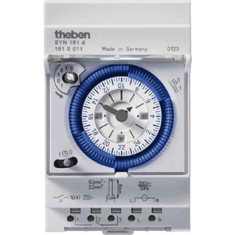 Interrupteur horaire programmable analogique Theben - SYN 161 d - 1610011