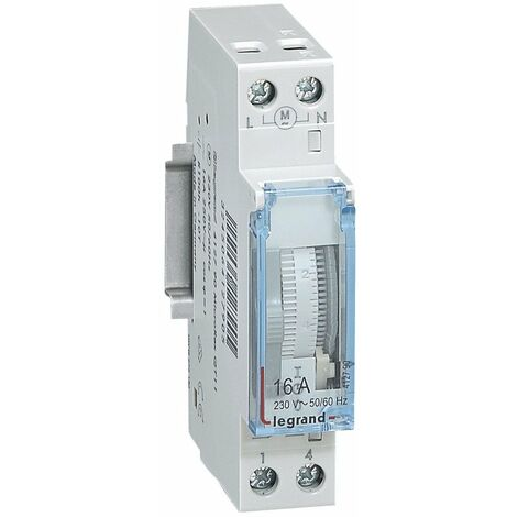 Interrupteur Horaire Programmable Cadran Vertical 16a 250v Jr - Legrand