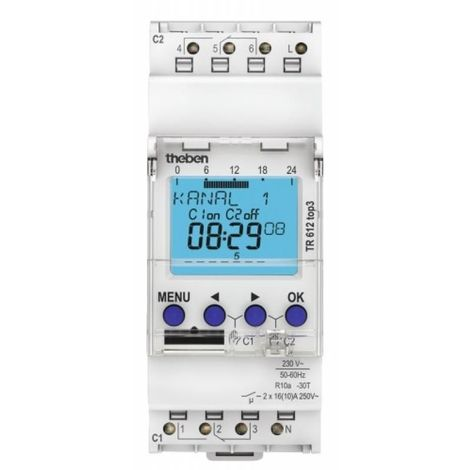 Interrupteur horaire programmable digital connecté TR 612 Top 3