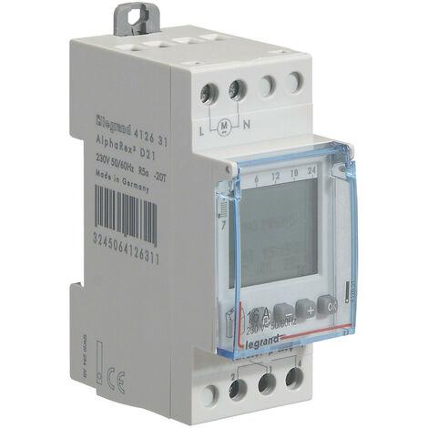 Interrupteur Horaire Programmable Legrand Digital - Auto - Multifonction -1 sortie 16a 250v~