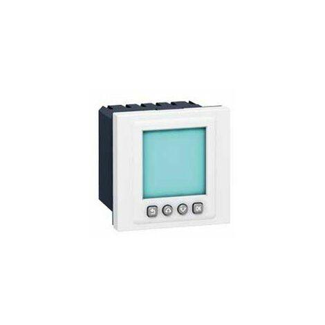 Interrupteur horaire programmable Mosaic 2 modules - 16 A