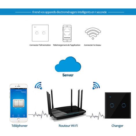 Interrupteur Intelligent Wifi, 2 Voies