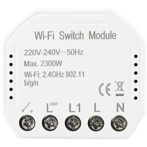 Interrupteur intelligent Wifi, interrupteur intelligent dissimul¨¦, prise en charge de Tmall Genie