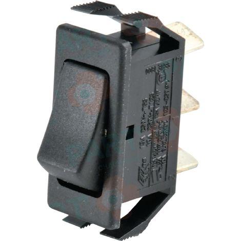 Interrupteur inversé unipolaire noir/noir Réf. 87168079490