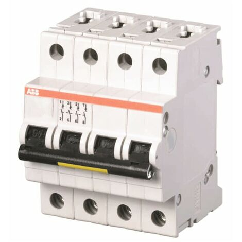 Interrupteur magnétothermique-ABB 4P 16A 25kA Type C 4 Modules S204P