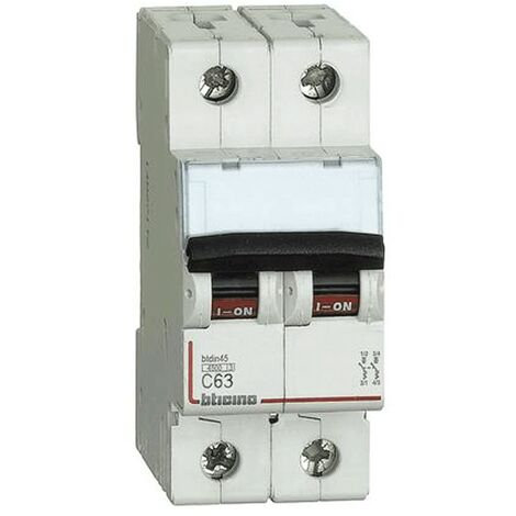 Interrupteur magnétothermique, Bticino 2P 63A 4.5 kA Type C-2 Modules