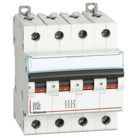 Interrupteur magnétothermique Bticino 40A 6KA 4 Pôles Courbe D FN84D40