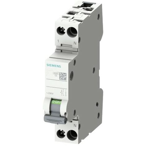 Interrupteur magnétothermique Siemens 10A 1P+N 4.5 KA courbe C 1 Module 5SL30107