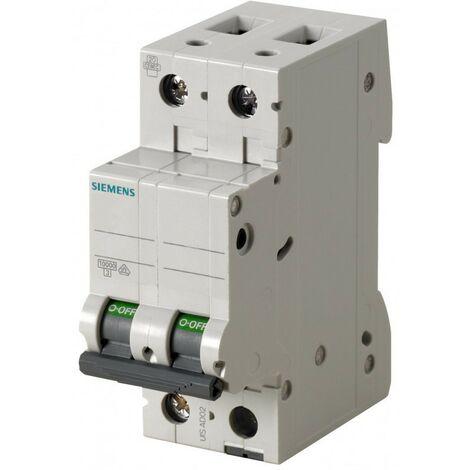 Interrupteur magnétothermique Siemens 2P 16A 6 ka Type C-2 Modules