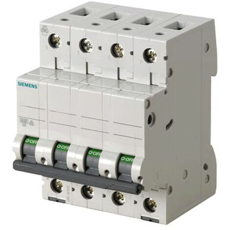 Interrupteur magnétothermique Siemens 4P 50A 6 ka Type C 4 Modules