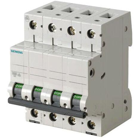 Interrupteur magnétothermique Siemens 4P 63A 6 ka Type C 4 Modules
