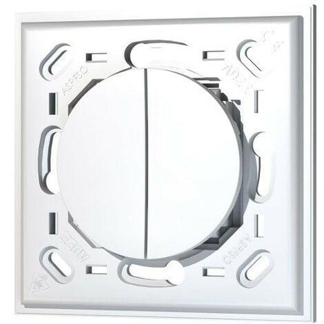 Interrupteur mural double sans plaque EnOcean compatible Odace - Trio2sys