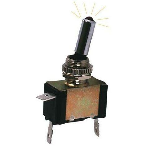"main image of ""Interrupteur OnOff Metal avec LED Jaune"""