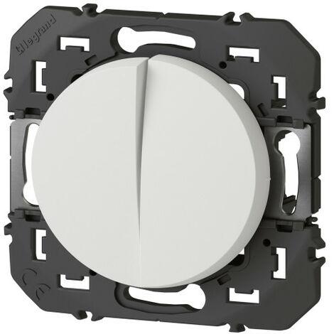 Interrupteur ou va-et-vient - 10A + Bouton Poussoir - 6A Dooxie Blanc - Legrand